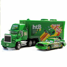 DISNEY PIXAR CARS CHICK HICK 86 TRUCK CONTAINER & HTB MACK RACER CAR DIECAST TOY