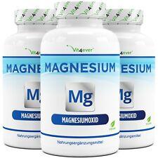 365 - 1095 Kapseln Magnesium rein 400mg  - 670mg Magnesiumoxid - Muskelkrämpfe