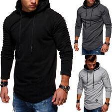 MT Styles Hoodie Henley Pullover Troyer Kapuzenpullover Schwarz/Khaki/Beige NEU
