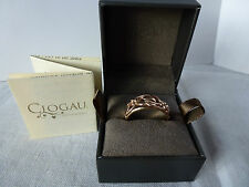 Clogau Welsh Gold, 9ct Yellow & Rose Gold Tree of Life Band Ring, size L