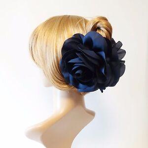 Very Big Flower Dahlia Motivated Handmade Hair Claw Clip