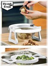 WENKO Küchensieb Standseiher Abtropfsieb Multi-Sieb Spülbecken geeignet klappbar