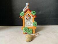 Vintage Ceramic Cuckoo Clock Wall Pocket Made In Japan