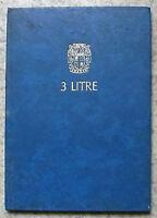 AUSTIN 3 LITRE Car Driver's Handbook 1968 #AKD 4996A