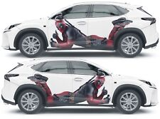 Vinyl Decal Car Body Side Wrap Full Color Auto Graphics Deadpool Custom Sticker