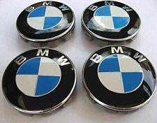4 x TAPAS LLANTAS BMW 68MM AZUL BLANCO CENTRO RUEDA SERIE 1 3 5 6 7 EMBLEMA LOGO