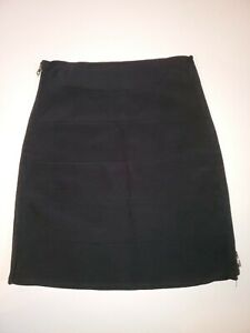 BEBE Black Bodycon Bandage Side Zippers Mini Skirt Size L