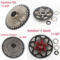 Sunshine 10 Speed 11-42T/11-46T/11-50T Freewheel MTB Bike Cassette Fits Shimano