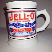 VINTAGE 1985 JELL-O STRAWBERRY COFFEE MUG PORCELAIN Great Advertising