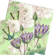Serviettes en papier Asie Colibri  Cambria Decoupage Paper Napkins Hummingbird