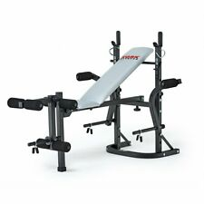 York Weight Bench Folding Flat Incline Adjustable Lifting w/ Chest Fly & Collars