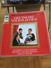 Johannes Brahms Deutsche Volkslieder 2 LP Schwarzkopf/ Fischer-Dieskau/ Moore