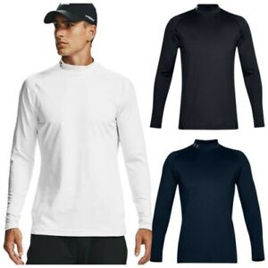 Under Armour Mens ColdGear Infrared Long Sleeve Mock Top Golf Fitted Baselayer