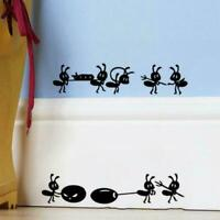 1 Pc Cartoon Black Ants Move Wall Sticker For Children's Rooms Home Decor F8X2