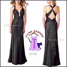 Satin V-Neck Special Occasion Dresses for Women