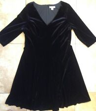 Coldwater Creek Black Velvet Dress