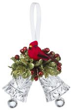Ganz Kissing Krystal Teeny Mistletoe Dbl Cardinal Bell Orn. Kk305 Free Ship Usa