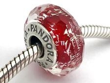 Pandora Auténtico Rojo Brillante Dije Cristal Murano 791654 Nuevo