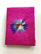 Handmade Lokta Paper Pressed Leaf Notebook Sketch Journal Diary Nepal