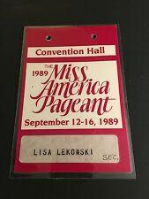 1989 MISS AMERICA PAGENT ORIGINAL STAFF PASS CONVENTION HALL