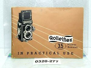 ROLLEI Rolleiflex 3.5 Camera MANUAL Original Book instructions Planar Xenotar