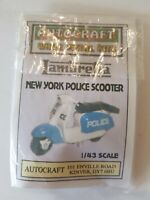 1/43 scale 7mm O gauge 1960s NEW YORK POLICE NYPD Lambretta scooter metal kit