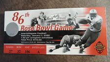 2000 86TH ROSE BOWL WISCONSIN BADGERS VS STANFORD CARDINAL GAME TICKET STUB