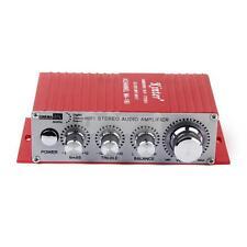 Amplificador Potencia Mini USB Coche Bicicleta Audio HIFI Estéreo Mp3 Mp4 Rojo