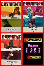 CASANOVA Vol 1 Luxuria, Vol 2 Gula & Vol 3 Avaritia TPBs (Image, Softcover) NEW