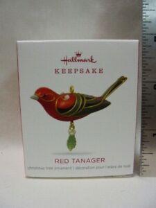 2018 Hallmark Keepsake Miniature Ornament Red Tanager Beauty Birds B48