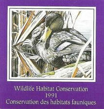 Canada, 1991 Federal Wildlife Habitat Conservation FWH7 Black Duck