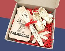 Farmhouse gift basket, Wooden cutting board, Housewarming gift