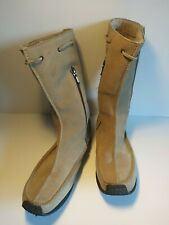 TED BAKER SIZE 7.5-8 BEIGE SUEDE MID CALF BOOTS COSY.      F5