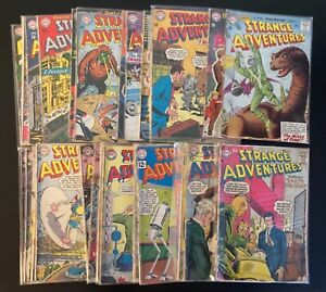 Vintage Strange Adventures DC Comic Book Lot - 39 Issues