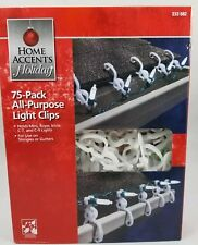 Home Accents Holiday 75pk All Purpose Christmas Light Clips