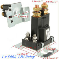 4Pin Over 500A 12V DC Dual Battery Isolator Relay Start On/Off Car Power Switch