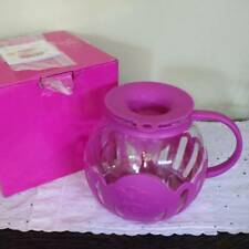 Popcorn Popper Microwave Ecolution 3 quart Hot Pink Silicone Glass