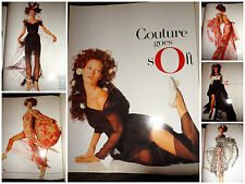 Kate Moss vintage fashion clippings lot 1993 Vogue Italia Walter Chin model ads