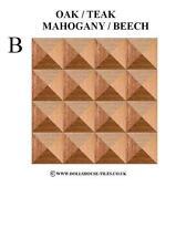Casa De Muñecas Miniaturas, En Color Madera flooring.wood Piso tiles.wb 3 (b) 1/12th Escala