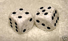 IVORY SPECKLED DICE PAIR