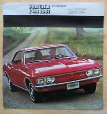 Chevrolet Corvair 1967 gamme grand format brochure catalogue 500 Monza Convertible