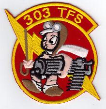 303 TACTICAL FIGHTER SQUADRON USAF PATCH A-10 WAR AIRCRAFT PILOT MISSOURI USA .