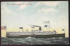 POSTCARD D & B Steamship Western States 1907 ?