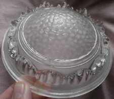 EZAN : petite vasque pour lustre ART DECO verre pressé moulé à décor stalagtites
