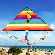 Large Delta Kite For Kids Adults Single Line Easy Handle Kite Fly Include A2F9