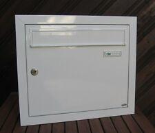 großer BRIEFKASTEN Unterputz Wandeinbau Alu RAL 9016 weiß Made in Germany