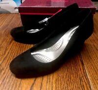 Dexflex Comfort 179372 WW KARMA Black Women's Heels Shoes Size 6.5W NWB
