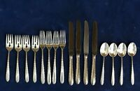 SILVER FLUTES by Towle, 1941 Sterling Silver Flatware 16 Pieces Service for 4