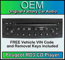 Peugeot 807 Car Radio CD rd3 Radio + Free vin code and