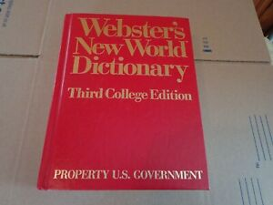 1988 Webster's Dictionary U.S. Government